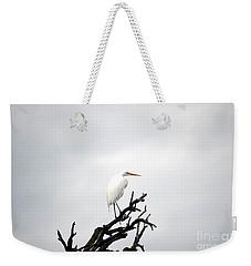 Heron On A Dead Tree Weekender Tote Bag