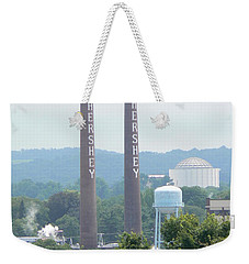 Hershey Smoke Stacks Weekender Tote Bag by Michael Porchik