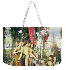 Hesiod And The Muses Weekender Tote Bag by Gustave Moreau