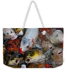 Hey Whats Happening Weekender Tote Bag by Wilma  Birdwell