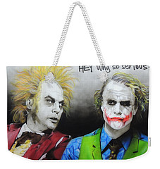 Health Ledger - ' Hey Why So Serious? ' Weekender Tote Bag by Christian Chapman Art