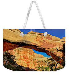 Weekender Tote Bag featuring the photograph Hickman Bridge by Greg Norrell