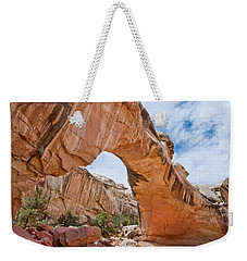 Weekender Tote Bag featuring the photograph Hickman Bridge Natural Arch by Jeff Goulden