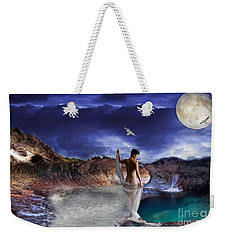 Weekender Tote Bag featuring the digital art Hidden River by Liane Wright