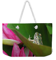 Hiding On The Lily Pad No.2 Weekender Tote Bag