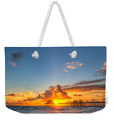 Hiding Sunset Weekender Tote Bag
