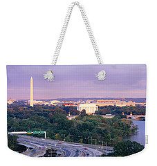 High Angle View Of Monuments, Potomac Weekender Tote Bag by Panoramic Images