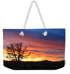 Weekender Tote Bag featuring the photograph High Desert Sunset by Kevin Desrosiers