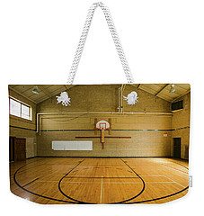 High School Basketball Court And Head Weekender Tote Bag