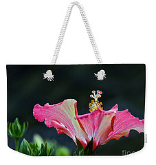 High Speed Hibiscus Flower Weekender Tote Bag