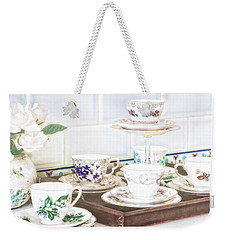 Weekender Tote Bag featuring the photograph High Tea by Holly Kempe