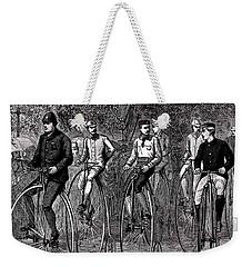 High Wheeled Victorian Bicyclers Weekender Tote Bag by Peter Gumaer Ogden