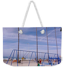 Weekender Tote Bag featuring the photograph Higher  by Susan Garren