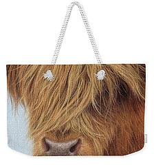Highland Cow Painting Weekender Tote Bag by Rachel Stribbling