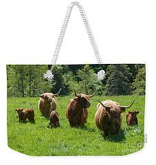 Highland Cows With Calves Weekender Tote Bag