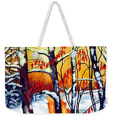 Highland Creek Sunset 2  Weekender Tote Bag by Inese Poga