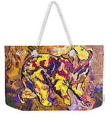 Weekender Tote Bag featuring the painting Highland's North Carolina Bear by Janice Rae Pariza