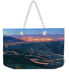 Highway 74 Palm Desert Ca Vista Point Light Painting Weekender Tote Bag