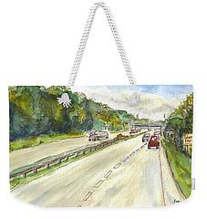 Highway 95 Weekender Tote Bag by Clara Sue Beym