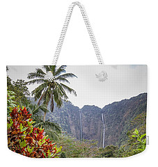 Hiilawe And Hakalaoa Falls Weekender Tote Bag