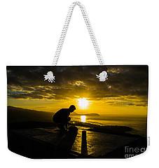 Hiker @ Diamondhead Weekender Tote Bag by Angela DeFrias