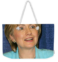Hillary Clinton Weekender Tote Bag by Nina Prommer