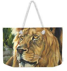 Him - Lion Weekender Tote Bag by Lori Brackett