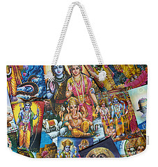 Hindu Deity Posters Weekender Tote Bag by Tim Gainey