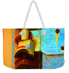 Weekender Tote Bag featuring the photograph Hinged  by Christiane Hellner-OBrien