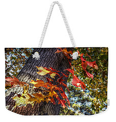 Hints Of Fall Weekender Tote Bag by Linda Unger
