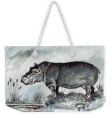 Hippo Weekender Tote Bag by Anthony Mwangi