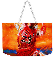 His Airness Weekender Tote Bag by Lourry Legarde