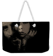 Weekender Tote Bag featuring the photograph His Amusement Her Content  by Jessica Shelton