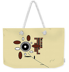 Weekender Tote Bag featuring the digital art His First Flower by Ann Calvo