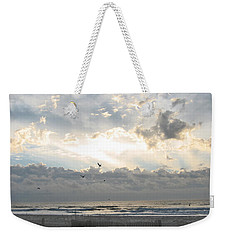 Weekender Tote Bag featuring the photograph His Glory Shines by Judith Morris