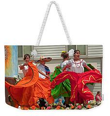 Hispanic Women Dancing In Colorful Skirts Art Prints Weekender Tote Bag by Valerie Garner