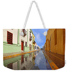 Weekender Tote Bag featuring the photograph Historic Campeche Mexico  by Susan Rovira