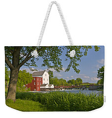 Historic Flour Mill By A River Weekender Tote Bag