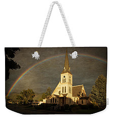 Historic Methodist Church In Rainbow Light Weekender Tote Bag