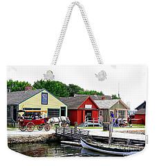 Historic Mystic Seaport Weekender Tote Bag by Dora Sofia Caputo Photographic Art and Design