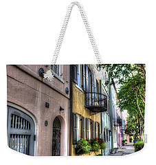Historic Rainbow Row Weekender Tote Bag