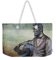 History - Abraham Lincoln Contemplates -  Luther Fine Art Weekender Tote Bag
