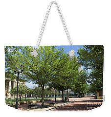 Lincoln Square Springfield Il - Luther Fine Art Weekender Tote Bag