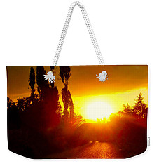 Weekender Tote Bag featuring the photograph Hit The Road Jack by Zafer Gurel