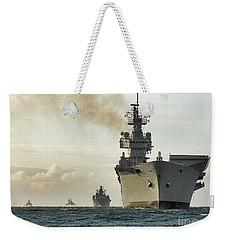 Hms Ark Royal  Weekender Tote Bag by Paul Fearn