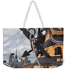 Hms Diamond And Hms Victory Weekender Tote Bag