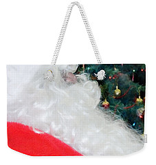 Weekender Tote Bag featuring the photograph Santa Claus by Vizual Studio