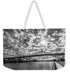 Hoan Bridge Peak Thru Weekender Tote Bag