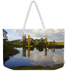 Autumn At Hobbiton Lake New Zealand Weekender Tote Bag by Venetia Featherstone-Witty