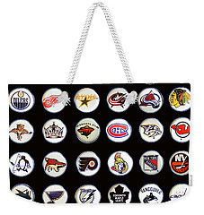 Hockey League Logos Bottle Caps Weekender Tote Bag